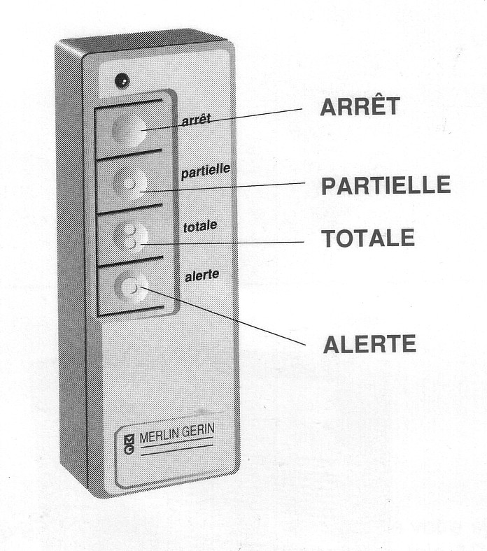 telecommande alarme