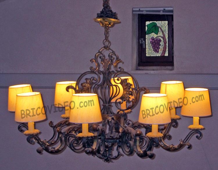 lustre deco 8 lampes