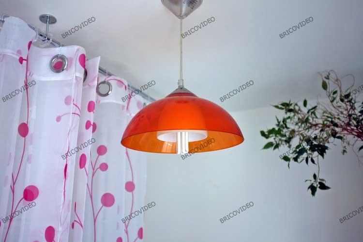 plafonnier plexiglass orange