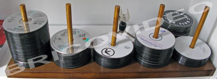 porte cd bois