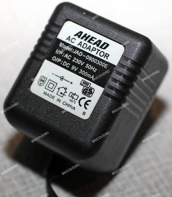adaptateur 9 volts 300 ma