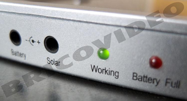 chargeur solaire branchement