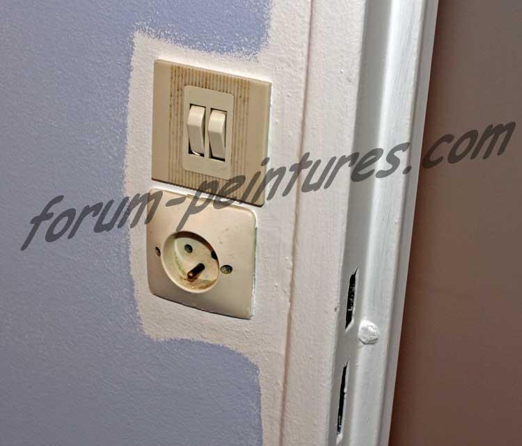 demontage interrupteurs peinture