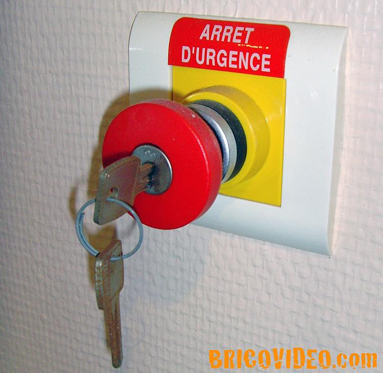interrupteur d arret d urge