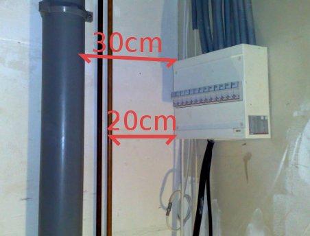 norme distance boitier electrique tuyau d eau