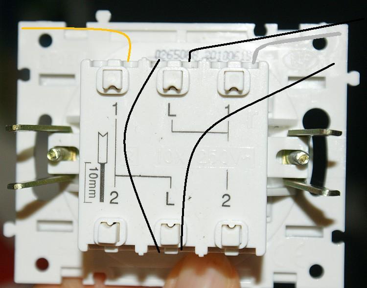 schema interrupteur double va et vient