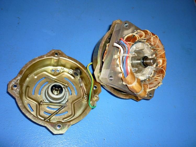 lave linge/branchement moteur electrique 220
