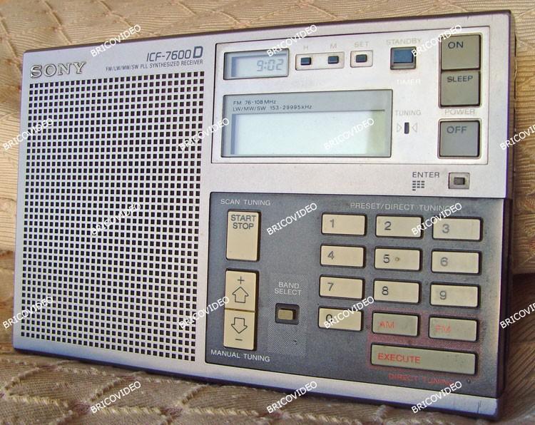 sony icf 7600 d
