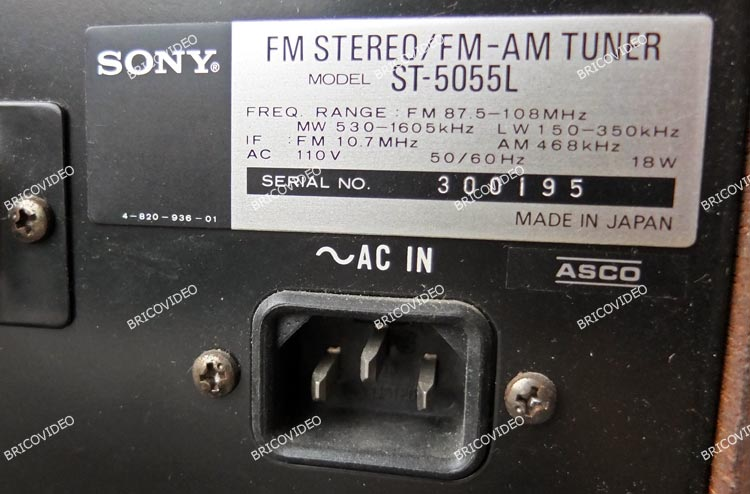 tuner sony vintage
