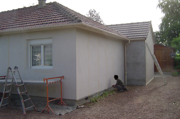 chantier isolation maison avant finition
