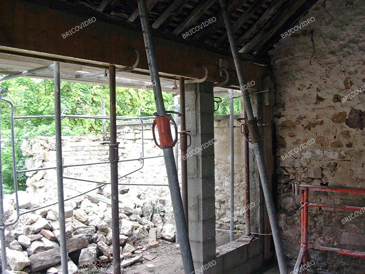 etayage linteau toiture