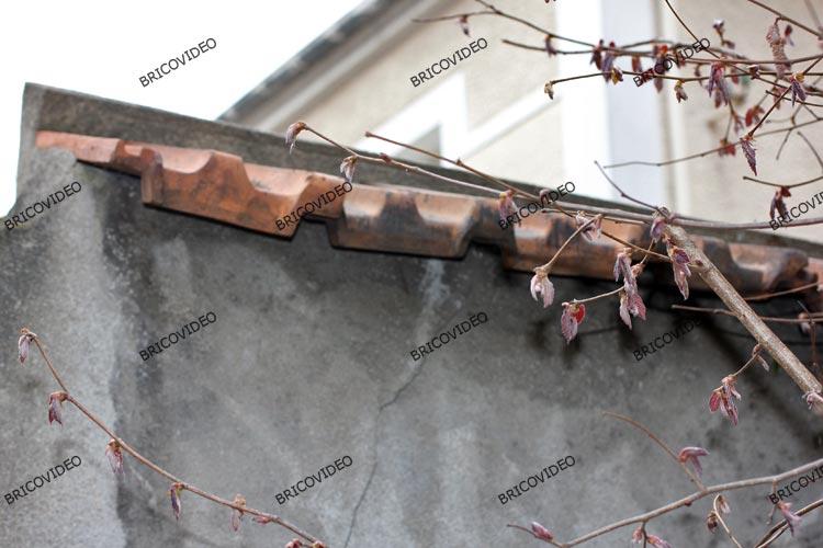 mur beton fixation tuiles