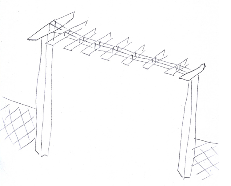 portique portail bois