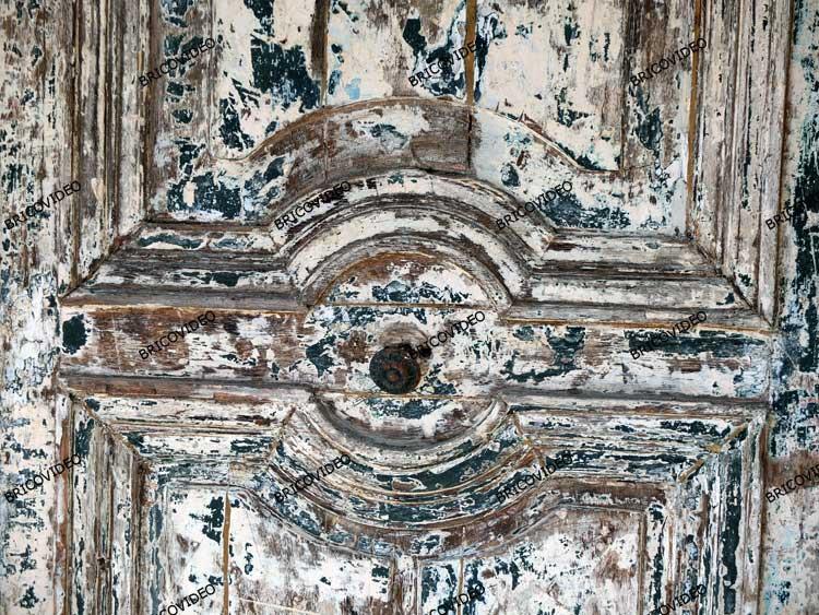 restaurer vieille porte bois