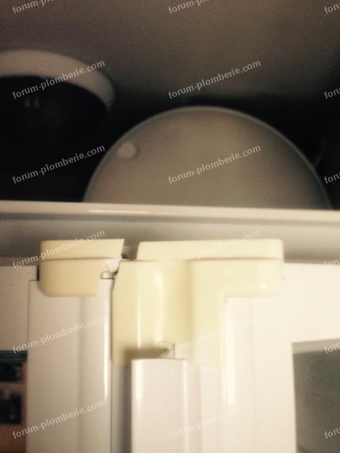 charniere haute vue cote interieur cabine de douche