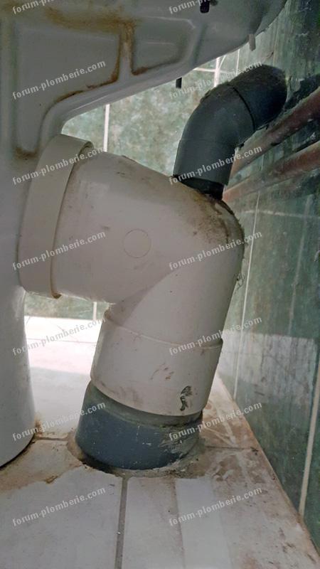 colonne evacuation wc inclinee