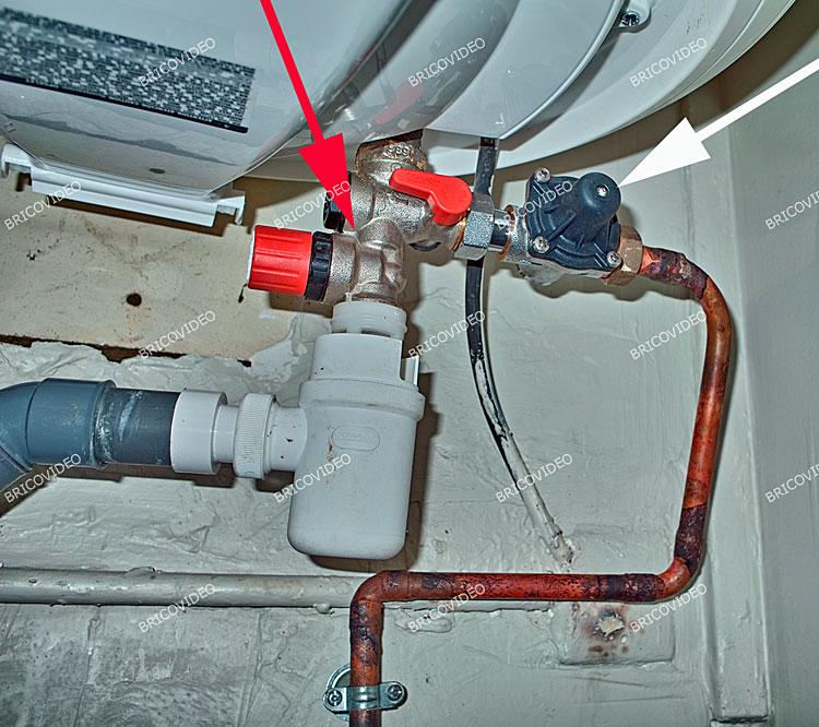 fuite groupe securite chauffe eau
