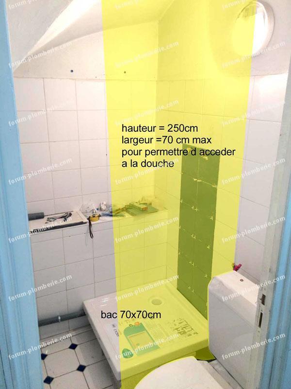 installation douche dans un petit espace bricovideo