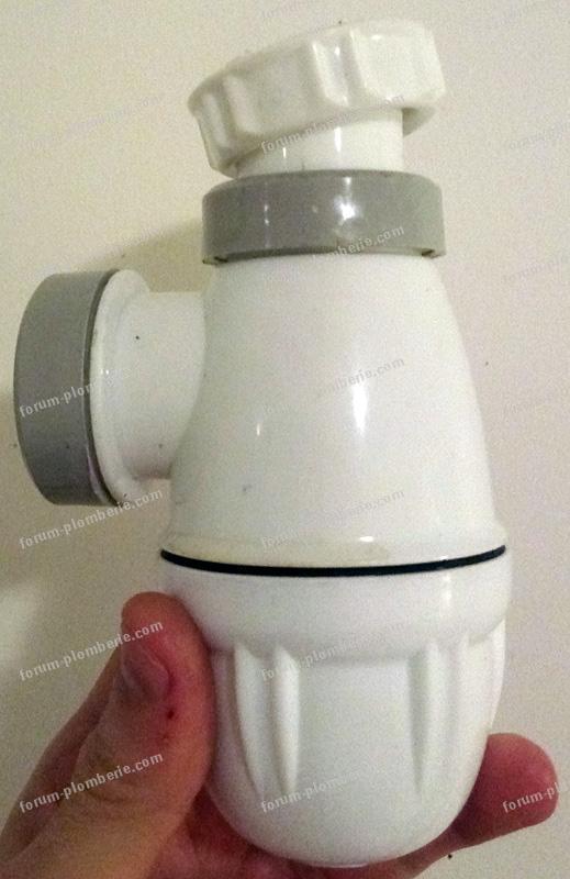 installation siphon avec sortie pour lave linge