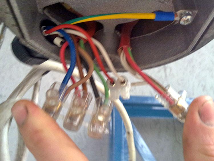 lave linge/brancher moteur triphase