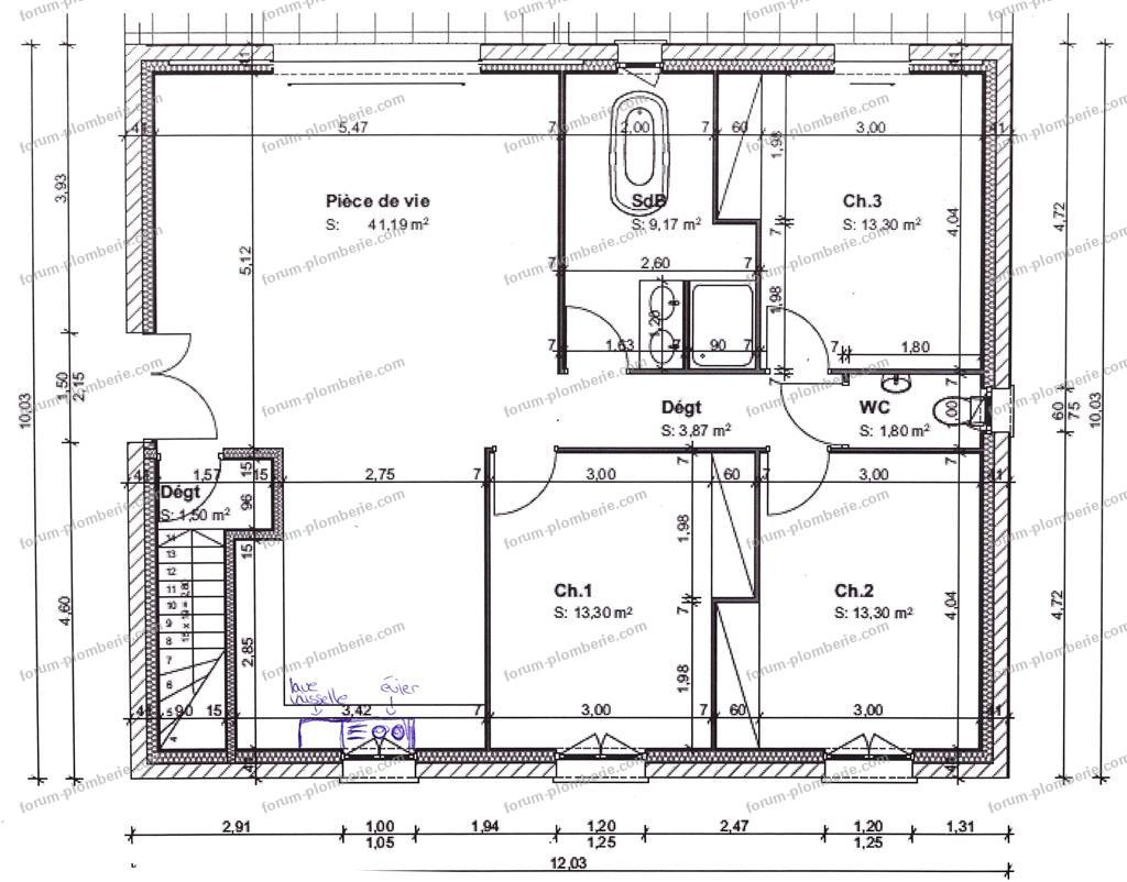 plan evacuation des eaux usees maison