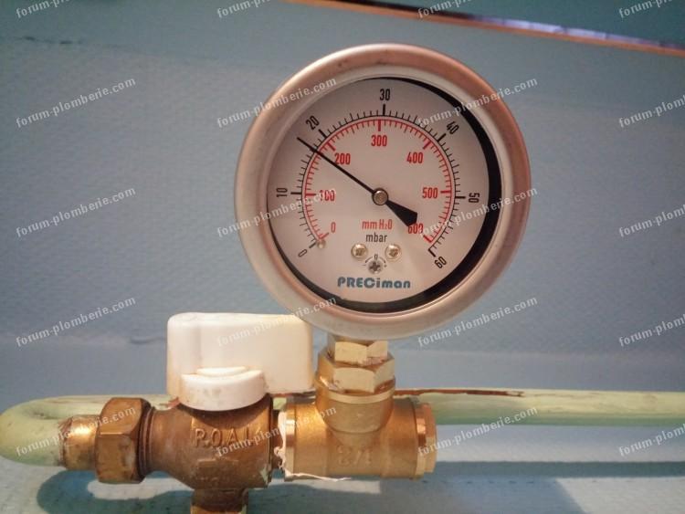 pression gaz de ville