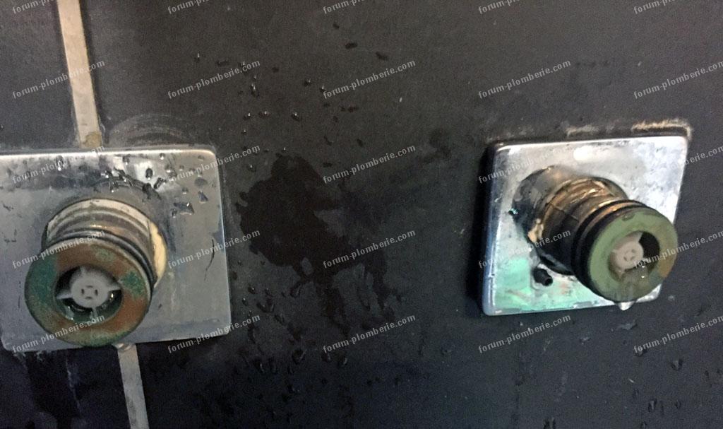 probleme demontage robinet thermostatique de douche