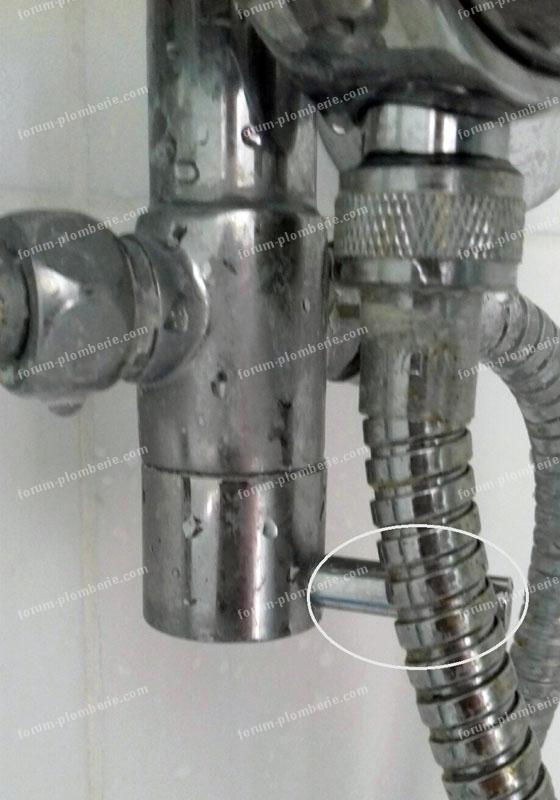 probleme remplacement mitigeur de douche