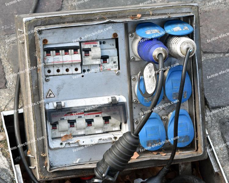 raccordement electrique marches
