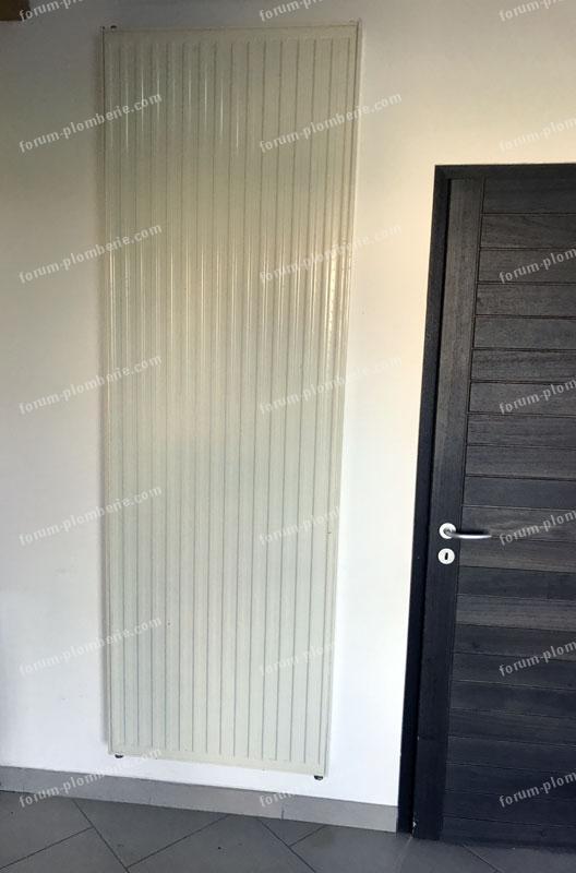 raccordement radiateur vertical