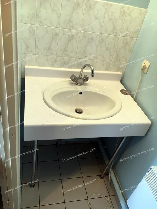 remplacer lavabo par un lave linge bricovideo 01