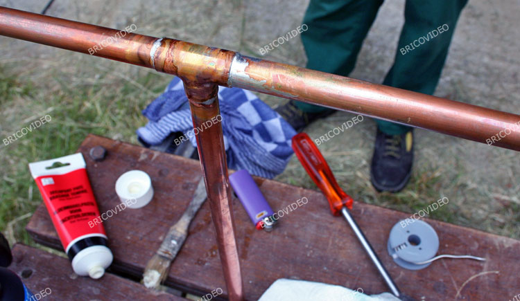soudure etain tuyau cuivre