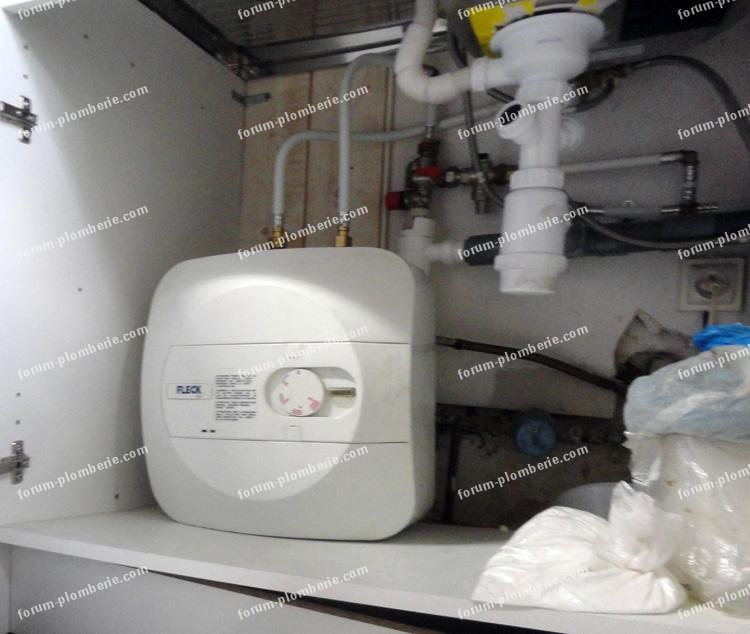 vidanger petit chauffe eau electrique sous evier