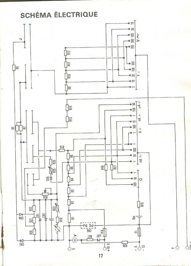 multimetre metrix bv02